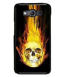 Fabcase burning skull Designer Back Case Cover for Samsung Galaxy J7 J700F (2015) :: Samsung Galaxy J7 Duos (Old Model) :: Samsung Galaxy J7 J700M J700H