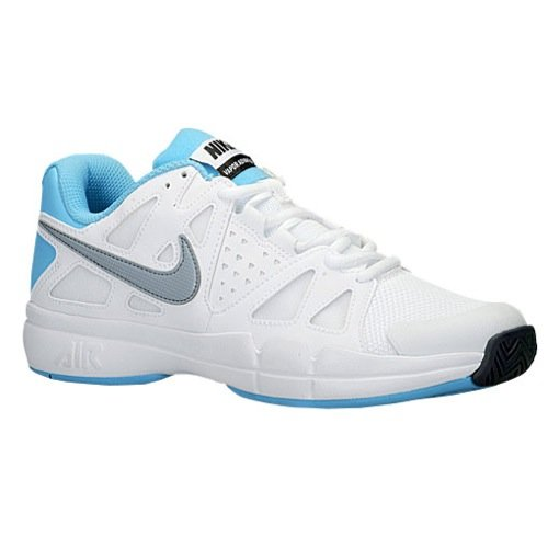 Advantage - white/dove grey-clearwater, Größe Nike:9 (Kinder-tennis-schuhe Größe 9)