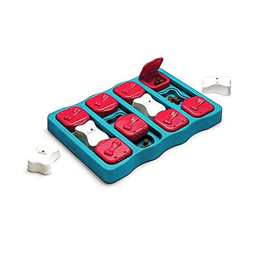 OTENGD Dog IQ Friandises Puzzle Interactif Masquer Cherche Puzzle Briques Chiens Jouets Distribution des Aliments Améliorer Animaux IQ Jeu Traiter Spécialement conçu pour la gâterie