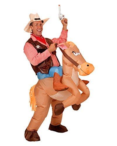 JF Deco Halloween Erwachsene aufblasbare Cowboy Cowgirl-Fahrt Pferd Fantasie-Partei-Kleid-Kostüm