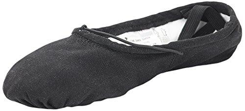 Sansha 1C PRO1C Chaussure de Danse Demi-Pointes pour Femme en Toile - Noir - 46.5 EU (Taille Fabricant: 19)