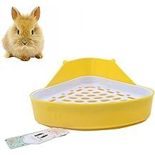 Mkouo Triangle-Vasino riduttore angoli, lenzuola, Pet-Lettiera per piccoli animali/coniglio/guinea Pig/galesaur/per criceti, topolini/furetti, colori assortiti