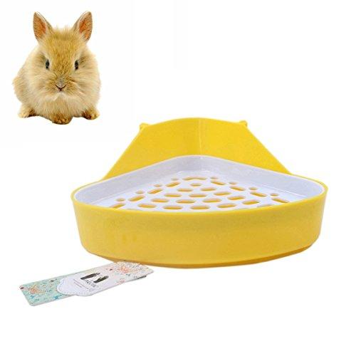 Mkouo Kaninchentoilette Hamster Toiletten Nagertoilette Ecktoilette, 28 x 22 x 15cm Sauber Critter