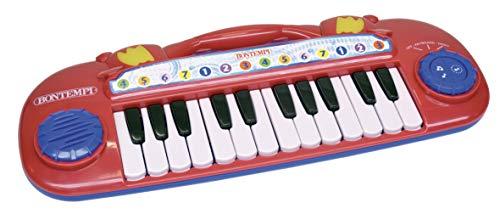 Bontempi- tastiera elettronica 24 tasti con effetti luminosi, 12 2411