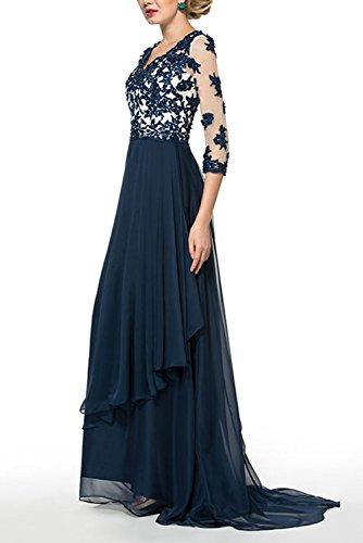 Bridal_Mall -  Vestito  - linea ad a - Maniche a 3/4 - Donna Lilla