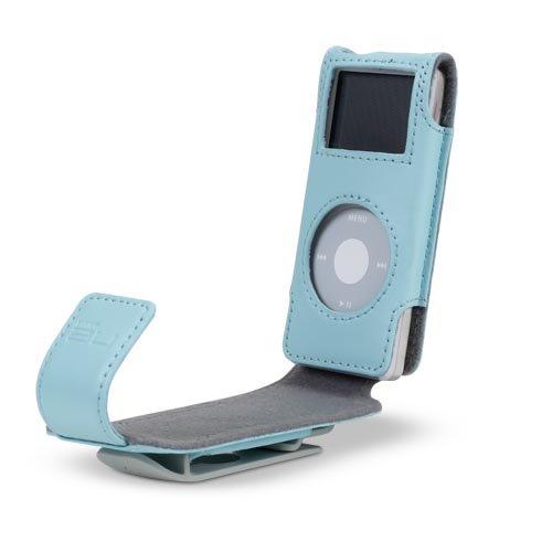 Belkin iPod Klappledertasche (geeignet für iPod nano 2. Generation) blau