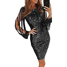 56d7c41a37a0a Aleumdr Mujer Vestido de Noche Vestido de Moda Falda Elegante para Fiesta  Size S-XL