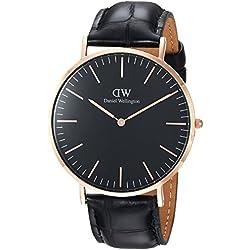 Daniel Wellington Reloj analogico para Unisex de Cuarzo con Correa en Piel DW00100129