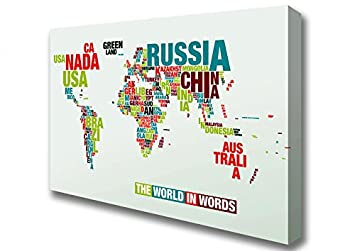 Maps of the world the world in words canvas art prints large 26 maps of the world the world in words canvas art prints large 26 x 40 gumiabroncs Choice Image