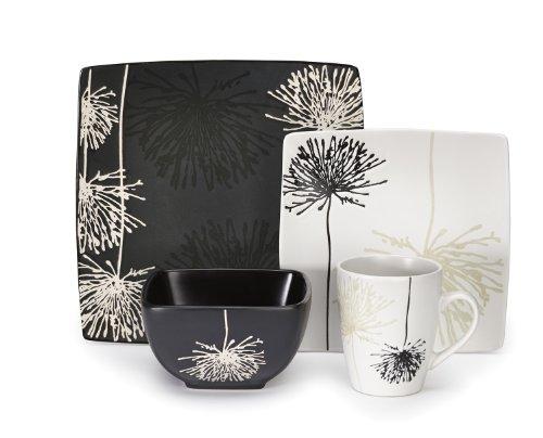 Cuisinart Geschirr-Set, 16-teilig Steinzeug Marianne 16 piece schwarz/weiß - Square Rot Geschirr-set