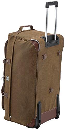 HAUPTSTADTKOFFER® · Reisetasche Trolley · Lederoptik · in verschiedenen Farben und Größen erhältlich (108 Liter Braun) 108 Liter Braun