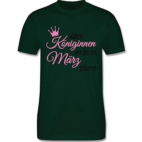 Geburtstag - Wahre Königinnen werden im März geboren - Herren Premium T-Shirt Dunkelgrün