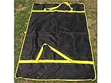 Schön Schön Multifunktionale Matte Wasserdicht Anti Sand Oxford Picknickdecke Campingmatte für Outdoor (Schwarz) (Farbe : Black)