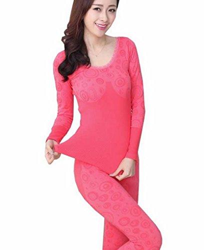 Evedaily - Coordinato abbigliamento termico - Donna Anguria rossa
