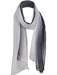 Classic Plain Solid Chiffon Scarf Light Weight & SOFT See-Through Semi Opaque Fabric 47 x 160cm (18.5 x 62 inch) - Luxurious Touch To Any Outfit All Year Around Sheer Scarves