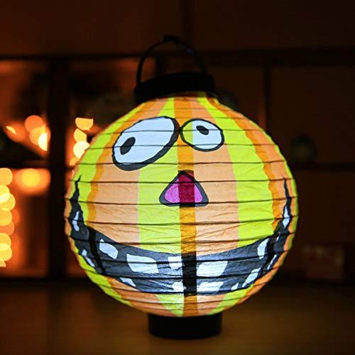 Einzigartige Halloween Dekoration LED Papier Licht Hängenden Laterne Lampe Halloween Requisiten Laterne für Party Supplies Im Freien