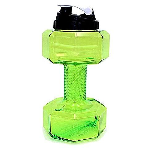 topind Sports Trinkflasche 2.2L groß Kapazität Hanteln geformte Flaschen umweltfreundlicher Kunststoff Sport Gym Fitness Krug Cup, grün