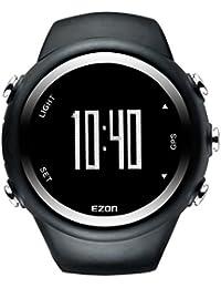 EZON T031 Montre de sport GPS pour hommes et femmes Outdoor Leisure Running Poignets numériques avec compteur de calories, rappel de danger, alarme et chronomètre