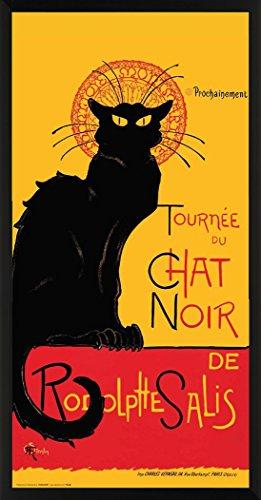 Theophile Steinlen Chat Noir (die Black Cat Cabaret) Vintage Werbung Kunstdruck Postkarte Poster 11x 14 Framed 12 x 24 -