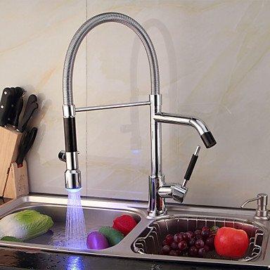 SHUYOU® Contemporary Single Handle Chrome LED Color Kitchen Faucet