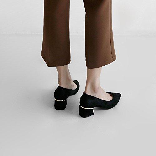 FLYRCX Donna tacco e tallone in pelle scamosciata scarpe con i tacchi alti: dimensione europea: 34-40,36 39