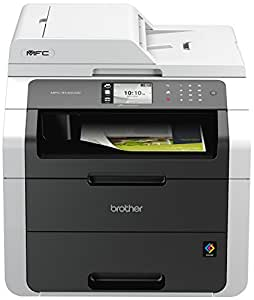 Brother MFC-9140CDN Stampante Multifunzione LED, a Colori, con Fronte/Retro Automatica, Fax, Duplex e Scheda di Rete