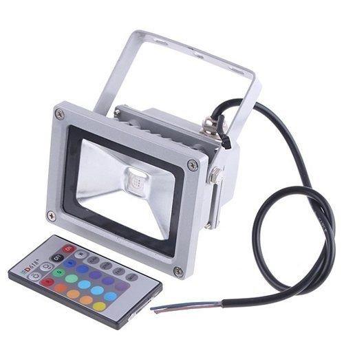 elecfan 10W SMD RGB Fernbedienung wasserdicht LED Flood Light Strahler für Indoor-Outdoor-Einsatz 10W RGB LED Scheinwerfer mit Standard-Deutsch-Stecker, wasserdicht Farbe, die im Freien LED Sicherheitslicht