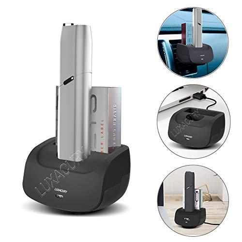LUXACURY iQOS Multi 3.0 Holder Tischladegerät für E-Zigarette IQOS Multi 3.0 Zubehör Ladestation für Büro/Zuhause/Auto, Iqos Elektronische Zigarette Zubehör Schnellladung (Für IQOS Multi 3.0)