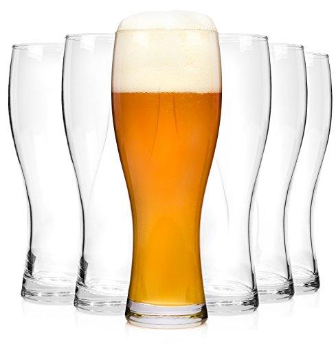 Bluespoon 208830 Weizenbierglas Set, glas, 6 Einheiten, transparent