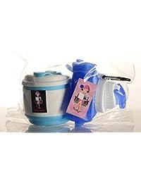 Mitialola Botella de Agua y Taza Café Vaso Plegable de Silicona Sin BPA Pack Set Regalo