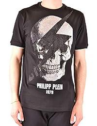 71cb8176d073 PHILIPP PLEIN T-Shirt Uomo P19CMTK3332PJY002N02 Cotone Nero