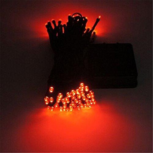 12m 100 LED Solarschnur Licht wasserdicht Solarlampe LED Weihnachtslichterkette in den Freien Garten Licht Dekoration ( Rotes Licht)