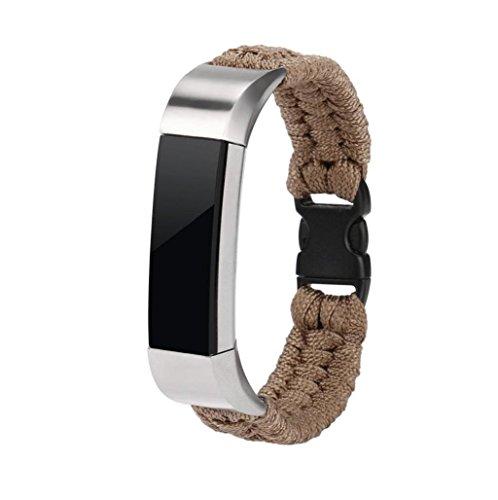 pulsera de supervivencia militar correas para Fitbit Alta HR/Fitbit Alta Sannysis fitbit alta correa kit de supervivencia banda de reloj de pulsera bohemia fitbit alta hr correa (caqui)