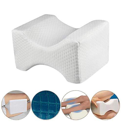 Almohada ortopédica para rodillas. Cojín ortopédico viscoelástico con Gel disipador de calor. Alivia...
