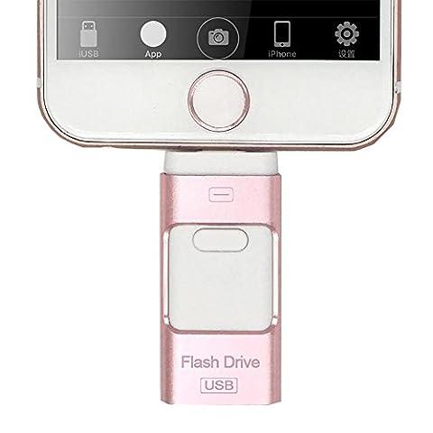 USB-Flash-Laufwerk für Telefon 7 7 Plus 6,6 Plus 5S ipad Metall Pen Drive HD Memory Stick Dual Zweck Mobile Otg 32GB 16GB Pendrive , 16GB