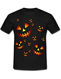 Spreadshirt Halloween Pumpkin Faces Men's T-Shirt