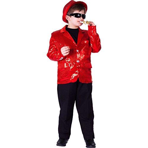 Dress Up America Völlig gefütterte rote Pailletten-Jacke für Kinder (Erwachsene Jacke Darsteller)