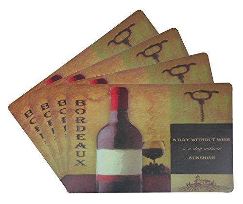 Bordeaux-kaffee-tisch-set (Popular Bath Home Leggie Suppe Soft Tischsets 4 Stück Bordeaux Bordeaux rot)
