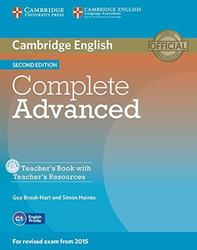 Complete Advanced Teacher's Book with Teacher's Resources CD-ROM by Guy Brook-Hart (2014-06-16)