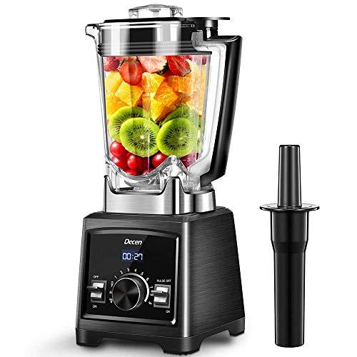 Decen Standmixer 2000W Smoothie Maker, 35.000 U/min Smoothie Blender,2l Tritan-Behälter ohne BPA Schleifer und Eis-Zerkleinerungsmaschine, Selbstreinigung und LED-Anzeige - Copolyester-glas