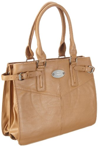 Friis & Company Flamingo Handbag 1240146, Damen Messengerbags, Elfenbein (Uncovered 032), 36x28x20 cm (B x H x T)