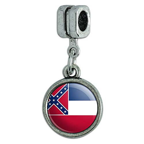 Italienisches im europäischen Stil Armband Charm Bead State Flagge Mississippi State Flag (Mississippi State Flag)
