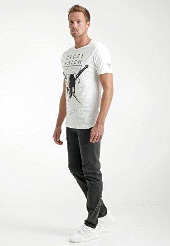 CROSSHATCH Herren T-Shirt Bladeskull White