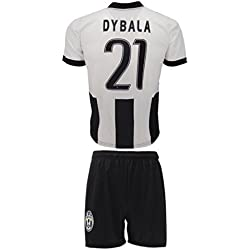 Conjunto Equipacion Camiseta Jersey Futbol Juventus Paulo Dybala 21 Replica Autorizado Para Hombre Talla de Niño (4 años)