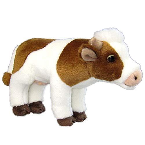 Uni-Toys Animali di Peluche, Peluche - Mucca, Marrone-Bianca -