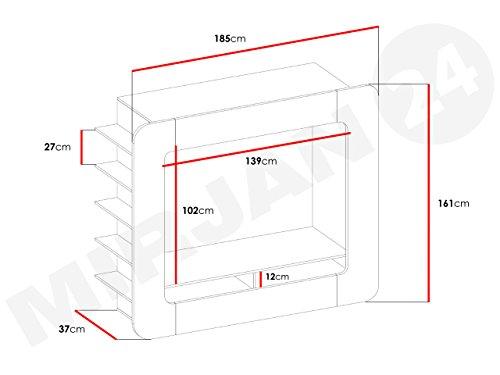 Wohnwand Multi Media, Exklusive Mediamöbel, Modernes Anbauwand, Design  Wohnzimmer Set, Trendy Design Mediawand, Schrankwand, Wohnzimmerschrank ...