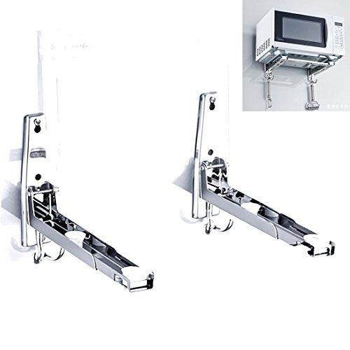 Awaduo forno a microonde supporto da parete e supporto e supporto regolabile–con 2ganci in acciaio INOX 304