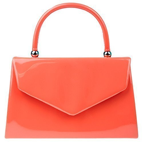 fi9  Bnwt retro Tote Patent Leather bridal wedding Evening Handbag party Purse clutch Shoulder Hand bag, Rosso