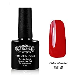 Perfect Summer UV Led Gel Nail Polish Color 10ml Soak Off Gel Manicure product Chinese Red