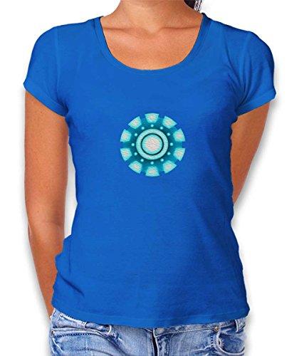 shirtminister Arc Reactor Ironman Damen T-Shirt Royal S